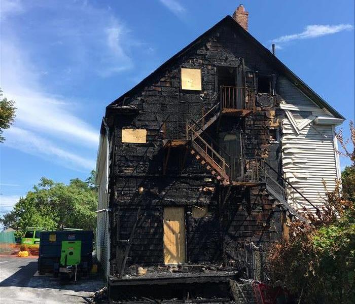 Severe Fire Damage Restoration After