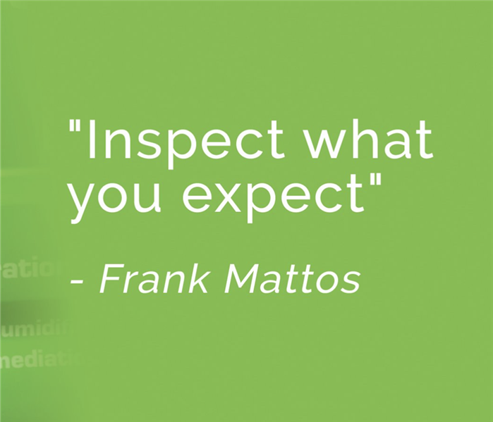 "a graphic that says ""Inspect what you expect"""