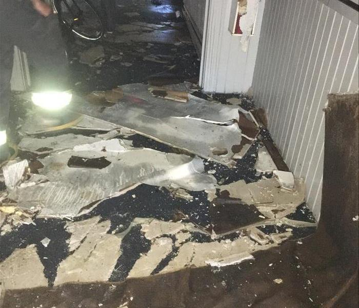 Water Damage after House Fire