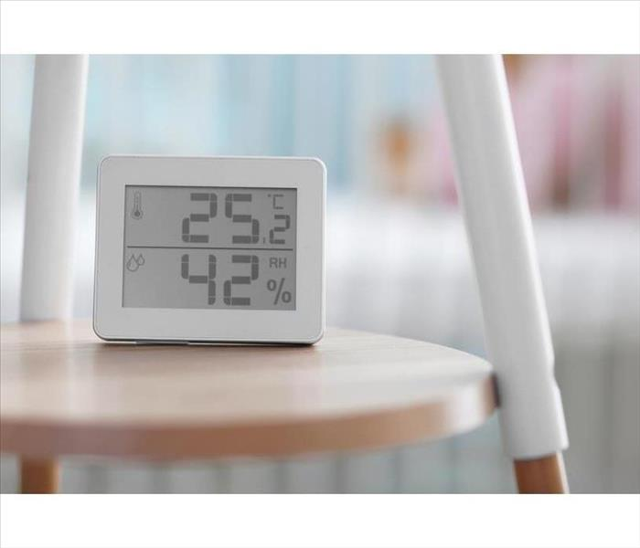 Digital temperature and humidity control in a room